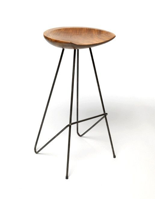 Perch Stool w/ raw iron base | From The Source Online Store