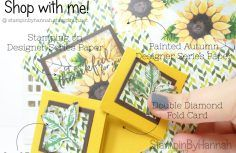 Inspire.Create.Challenge How to make a Fancy Fold card using Painted Harvest from Stampin' Up!  #handmade #card #stampinup #stampinbyhannah #video #tutorial #craft