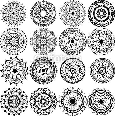 Vector: A set of beautiful mandalas and lace circles