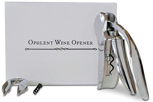 Opulent Wine Opener  Best Premium Screwpull Lever Wine Bottle Opener Set For Easy And Fast Removal Of Any Cork  Enjoy Drinking Your Favorite Glass Of Wine With Opulence and Ease Now -- Read more reviews of the product by visiting the link on the image.