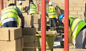 Sharp fall in UK housebuilding drags down construction sector Fears of worse to come with 2.1% fall blamed on housebuilding contraction, cuts to council repairs and firms shelving projects ahead of EU poll