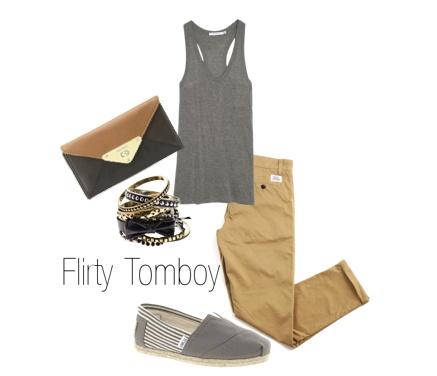 Summer outfit ideas: tomboy, khaki pants, TOMS {love}