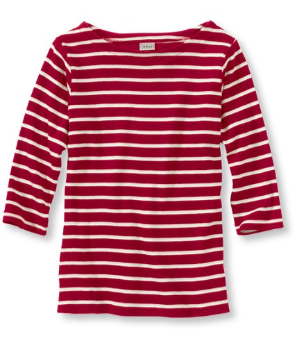 French Sailor's Shirt, Three-Quarter Sleeve Boatneck: Three-Quarter Sleeve | Free Shipping at L.L.Bean