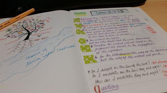 Journaling Psalm 1 - 5