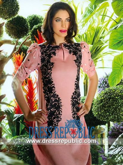 Sana Samia Embroidered Cotton Suits 2014 with Prices  Lala Textile Cotton Mid Summer Printed Dresses Collection. by www.dressrepublic.com