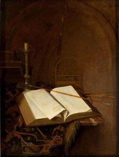 Jan van der Heyden - Stilleven met bijbel