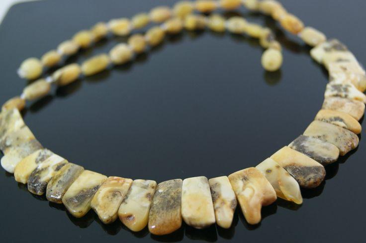 Novedad ..... Precioso collar de ámbar báltico blanco autentico con cierre de rosca.     www.ambarico.com