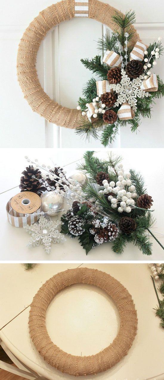 lindas coronas navideas para decorar la puerta de tu casa hola chicas dentro