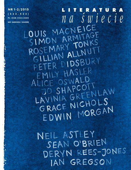 Literatura na Świecie 1-2/2015 Poezja angielska