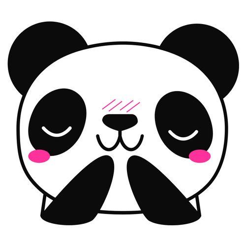 #panda #emoji #cute #kawai #kpop