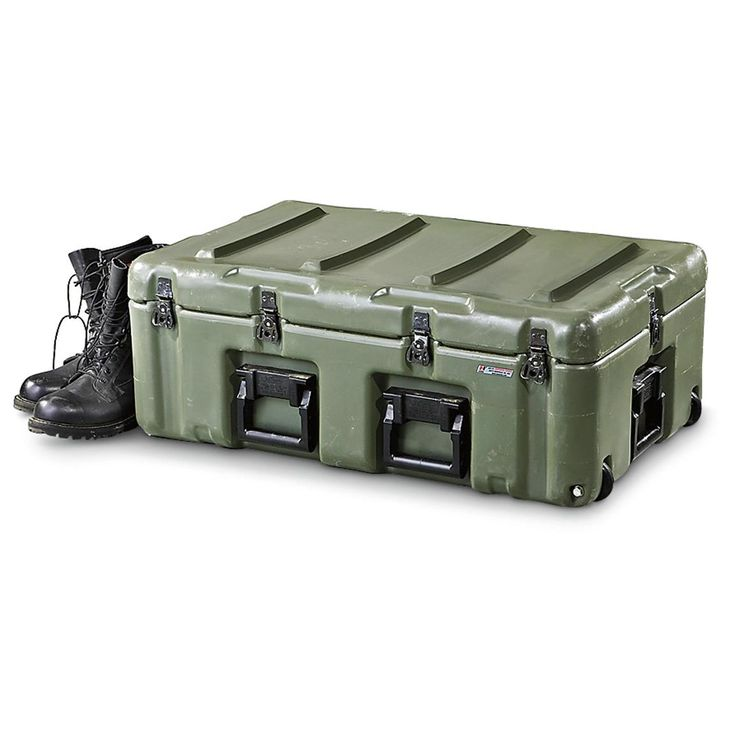 Hardigg® U.S. Military surplus-issue Used Wheeled Medical Chest, Olive Drab