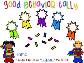 Weekly Behavior Charts and Tally Sheets for Children