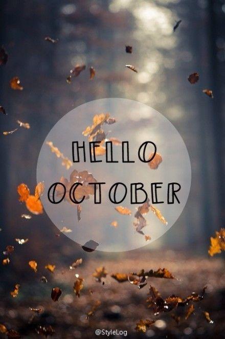 Repinned: Hello October #fall
