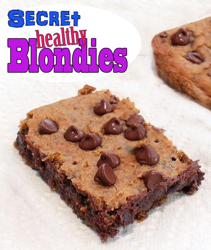 Healthy White Bean Blondies... smart blondes do exist!