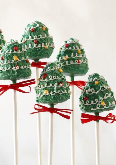 xmas tree cakepops #tistheseason