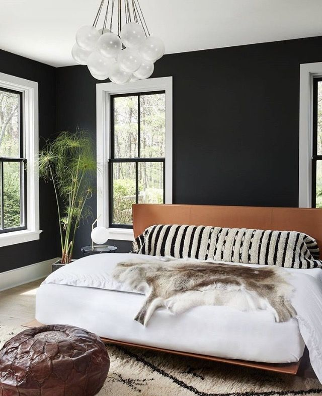 Interiors u2014 Semikah Textiles Dark Walls Bedroom