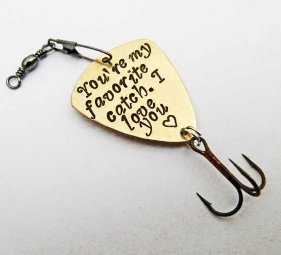 Personalized fishing lure fisherman gift my best catch for Engraved fishing lures