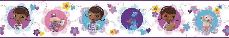 "Walt Disney Kids II Doc Mcstuffins and Friends 6"" Border Wallpaper"