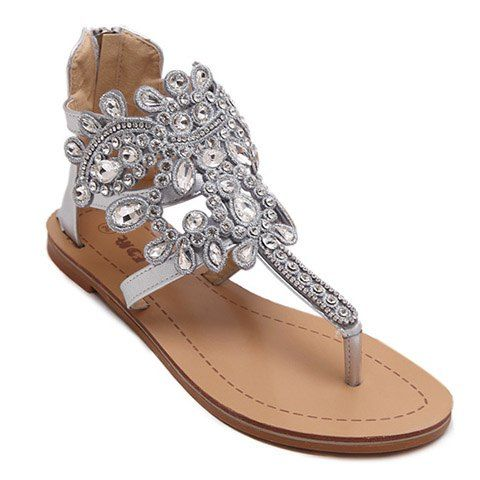 GET $50 NOW | Join RoseGal: Get YOUR $50 NOW!http://www.rosegal.com/sandals/stunning-flip-flop-and-rhinestones-design-sandals-for-women-469402.html?seid=3185995rg469402