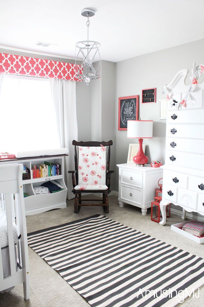 Coral And Gray Nursery Www Amusingmj Com Light French