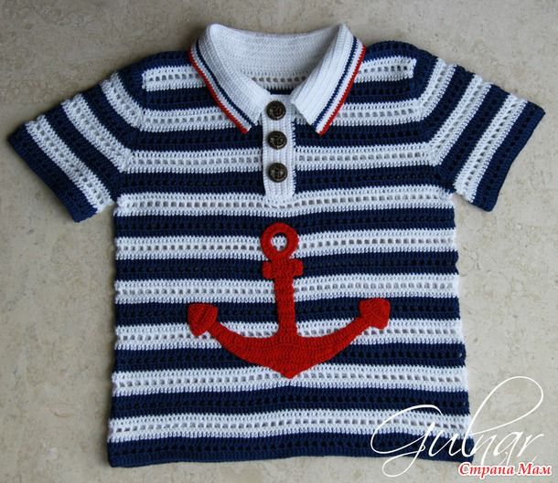 "Комплект ""Морячок"" (рубашка-поло и кепка-бандана)"