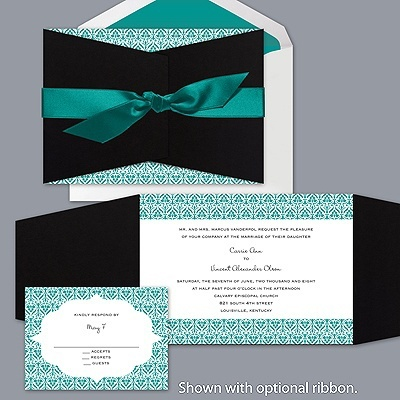 Layers of Color - Jade - Invitation