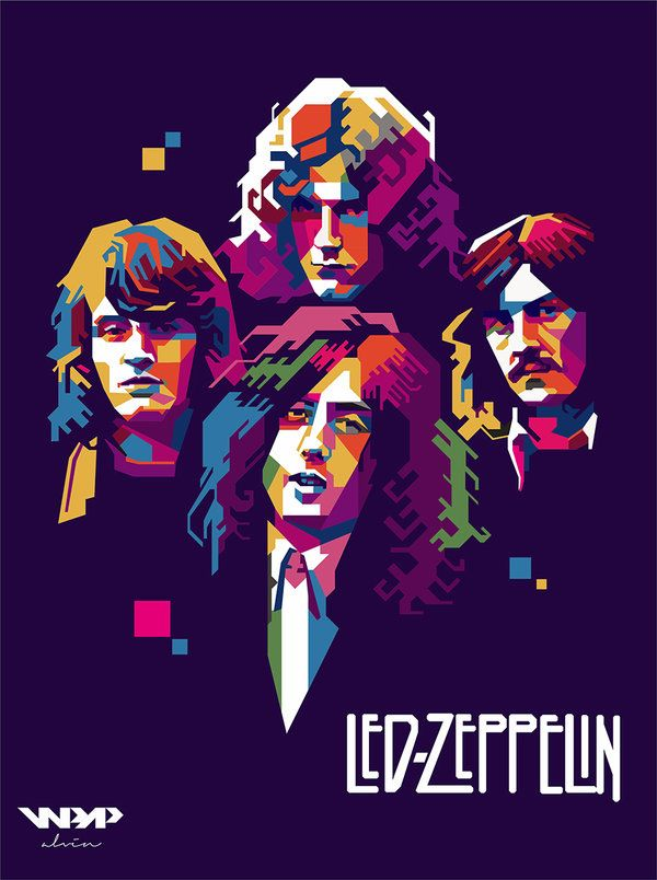 Led Zeppelin - WPAP by vinartvin.deviantart.com on @DeviantArt