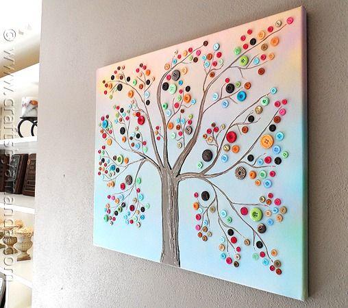Vibrant Button Art