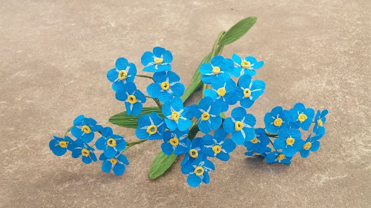 How To Make Forget Me Not Paper Flower - Craft Tutorial