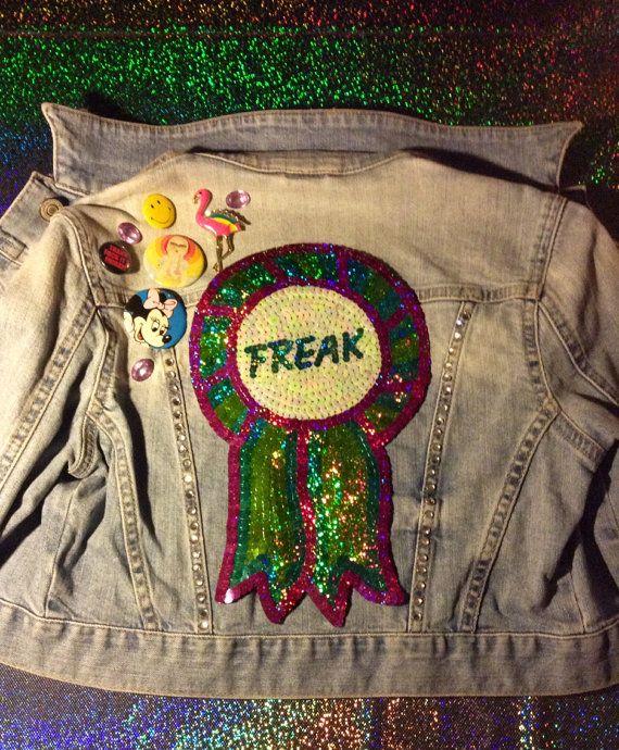 Embroidered Freak Rosette Iridescent Sequin by KingSophiesWorld