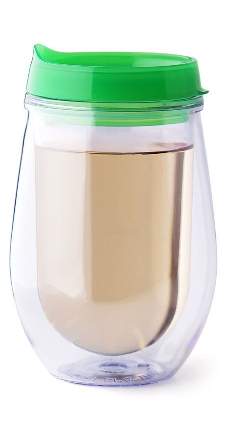 Stemless Traveler Green Sippy Cups Kitchen And Wine Tumblers