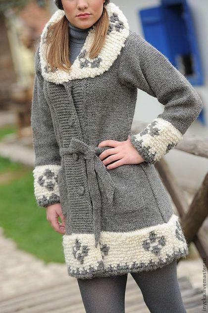 Верхняя одежда ручной работы. Ярмарка Мастеров - ручная работа Вязаное пальто W9. Handmade.
