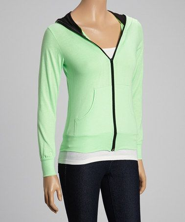 This Green Zip-Up Hoodie by Magic Fit is perfect! #zulilyfinds