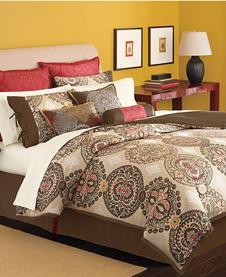 Martha Stewart Collection Bedding Brick Lane 9 Piece forter Set Sale Bed in a - cal king bed sheets