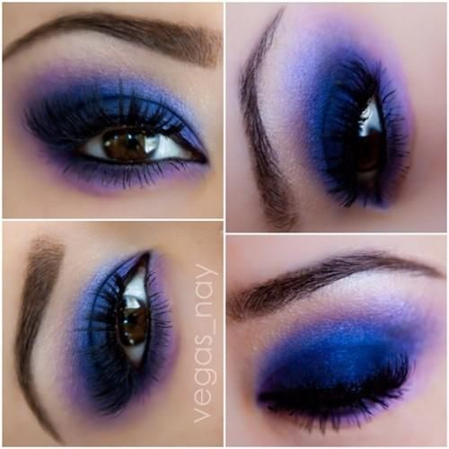 Purple eye makeup: Hair Beautiful, Popular Hair, Make Up, Spring Colors, Cobalt Blue, Clowns Makeup, Blue Eye Makeup, Purple Eye Makeup, Eyemakeup