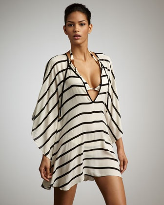 Women's Vix Odette Striped Coverup Caftan << quite swanky, <3: Beachwear, Stripes Coverup, Things Beachi, Vix Odette, Odette Stripes, Coverup Caftans, Beaches Wear, Beaches Style, Covers Up