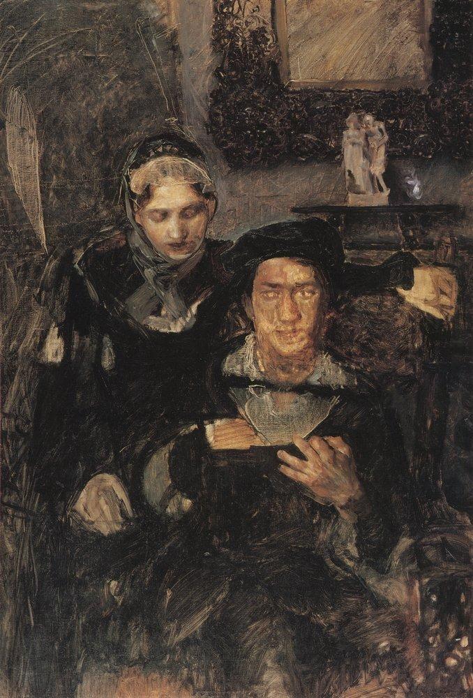 М.А. Врубель - Гамлет и Офелия. 1884