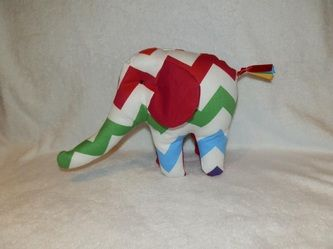 Handmade Elephant Taggy Toy