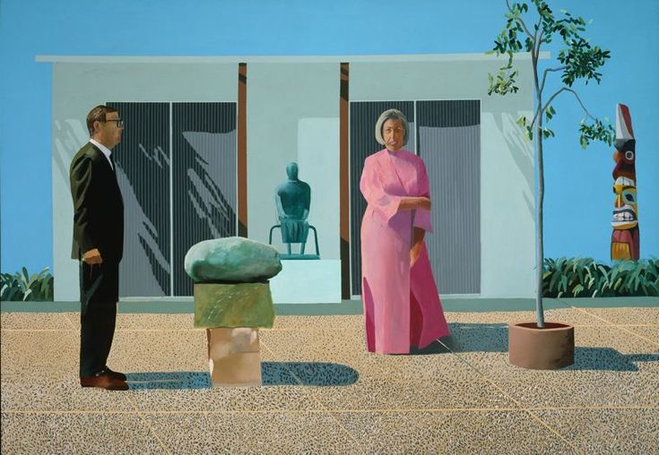 David Hockney, American Collectors (Fred and Marcia Weisman)