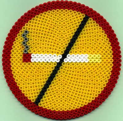 No Smoking Sign - Perler Beads