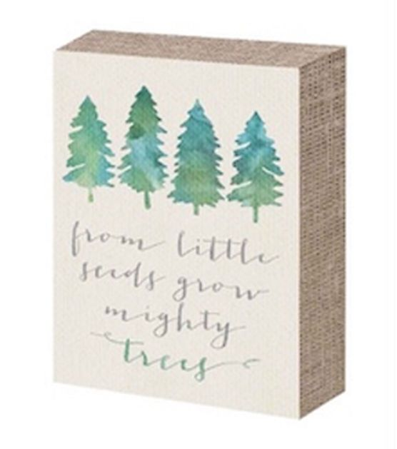 Word Block-From Little Seeds Grow Mighty Trees