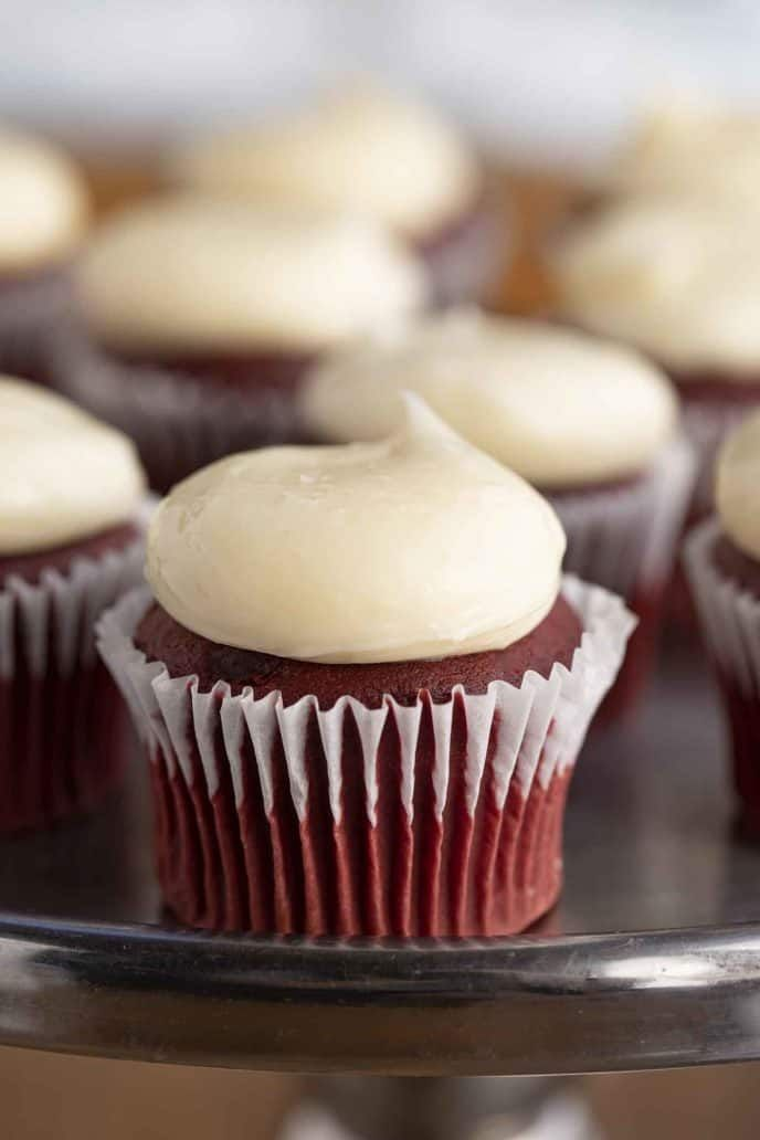 Red Velvet Cupcakes And Soft And Moist With An Incredible Red Color Made With Sour Cream An Fun Cupcake Recipes Red Velvet Cupcakes Red Velvet Cupcakes Recipe