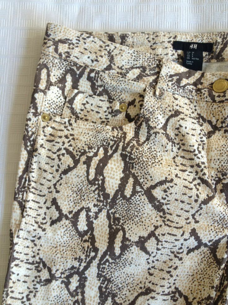 Ladies H&M Snakeskin Patterned Jeans , Size 10 - Now Selling! Click through to go to eBay auction!