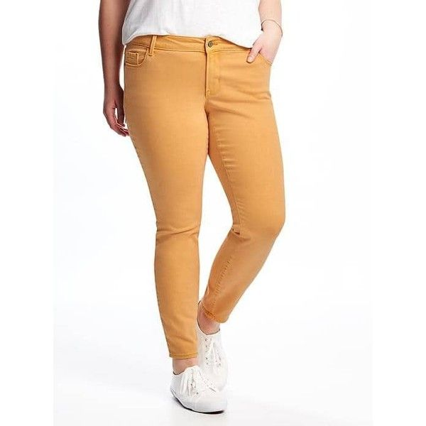 plus size yellow skinny jeans - Jean Yu Beauty