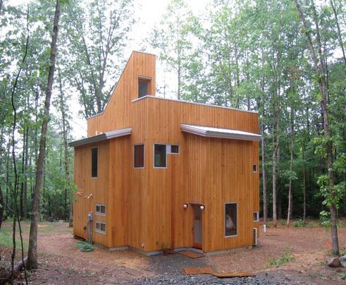 The Cube House. Designed and built by Tom and Yumiko Virant of Virant Design.