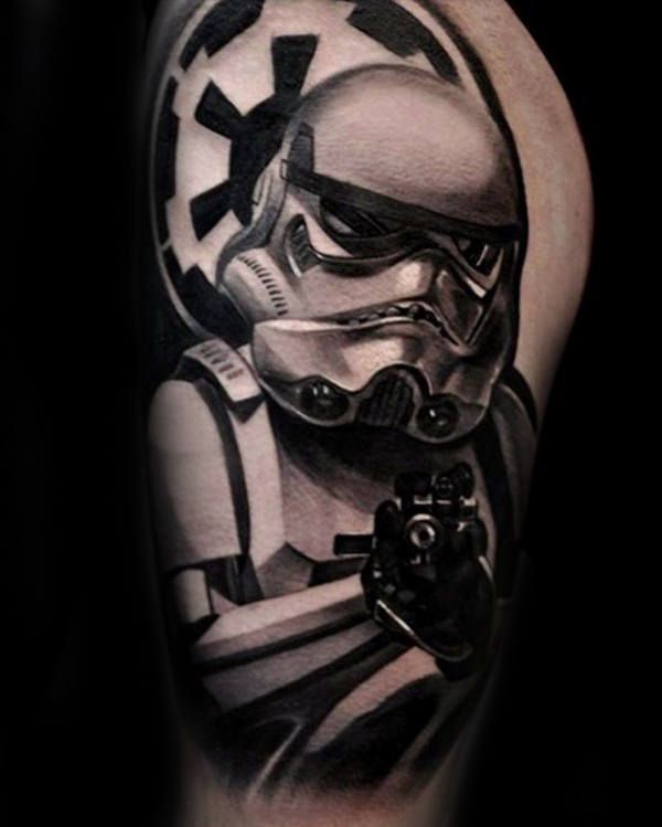 100 Stormtrooper Tattoo Designs For Men Star Wars Ink Ideas