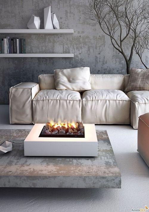 Concrete interiors and decor. Neat look