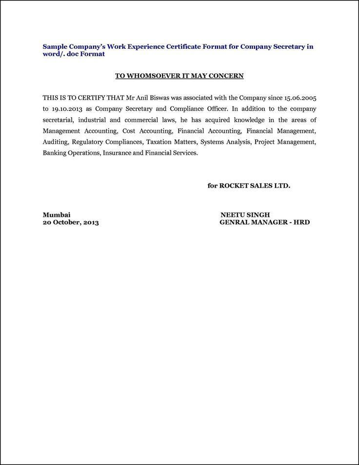 Sample of work certificate etamemibawa sample of work certificate yadclub Gallery
