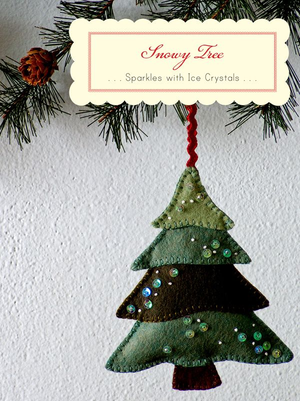 Christmas tree ornament felt christmas pinterest for Decorations noel a fabriquer