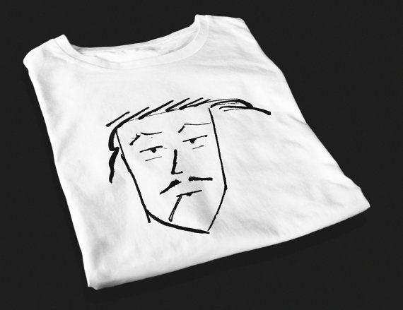 Bored Bloke  Screen Printed T-Shirt by yoinkprintshop on Etsy